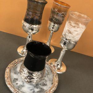 גביע קידוש מעוצב מזכוכית