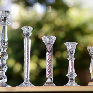 פמוטי זכוכית לשבת